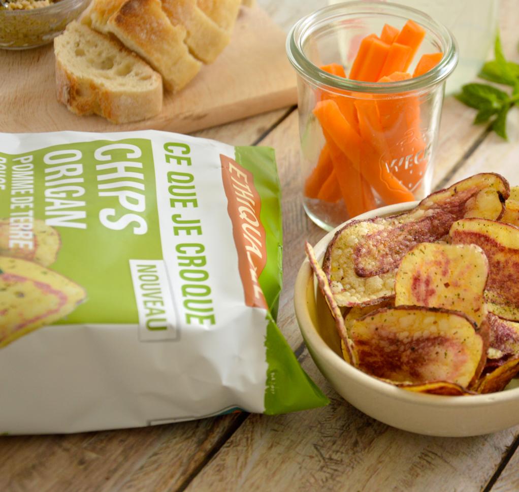 apéro bio équitable chips origan