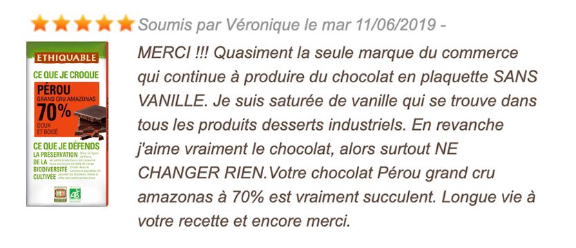avis consommateur chocolat noir 70%