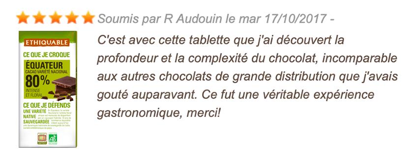 avis consommateur chocolat noir 80%