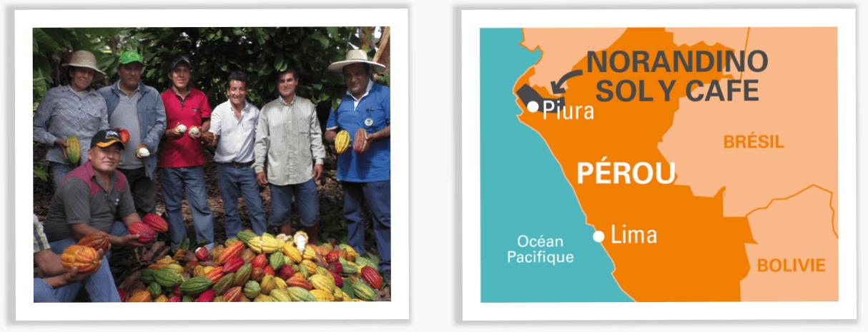 cacao bio équitable Pérou