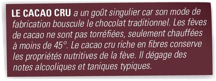 cacao cru 82% explication