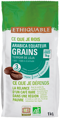 cafe grains équateur equitable bio
