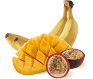 dessert-de-fruits-banane-mangue-passion-