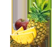 dessert fruit pomme ananas ethiquable