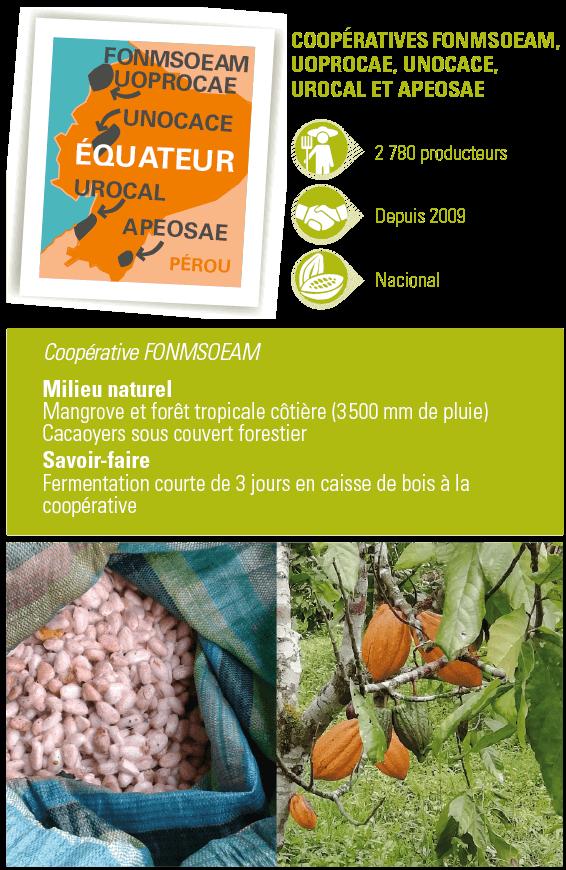 chocolat equateur 80% bio équitable ethiquable coopérative