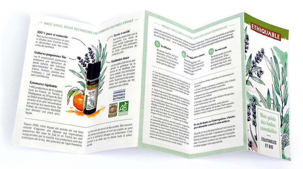 ethiquable depliant huile essentielle