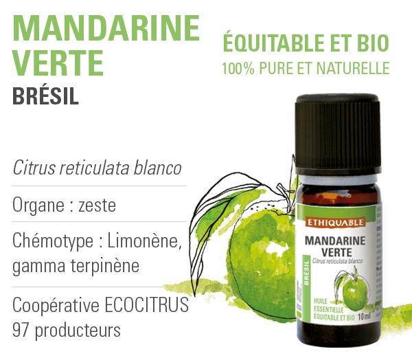 huile-essentielle - mandarine verte - equitable-bio-ethiquable