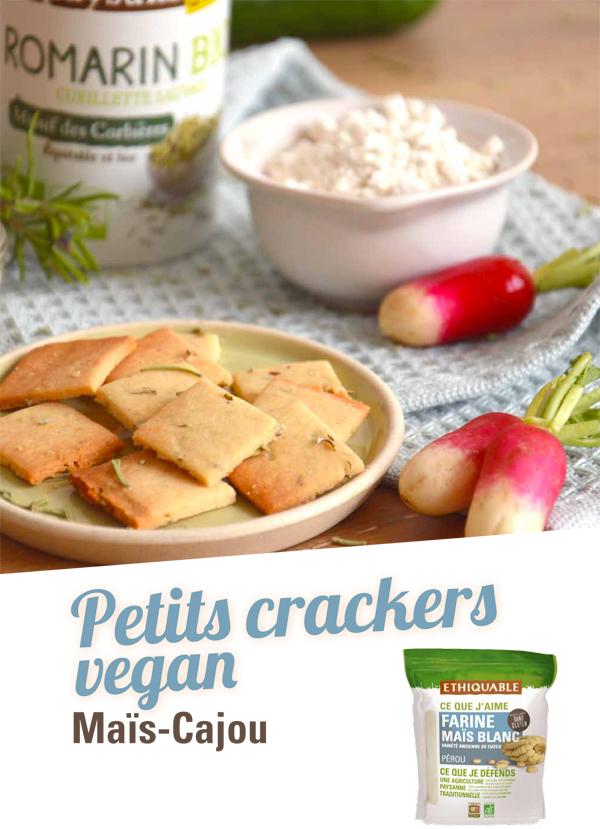 Recette sans gluten crackers maïs blanc et cajou