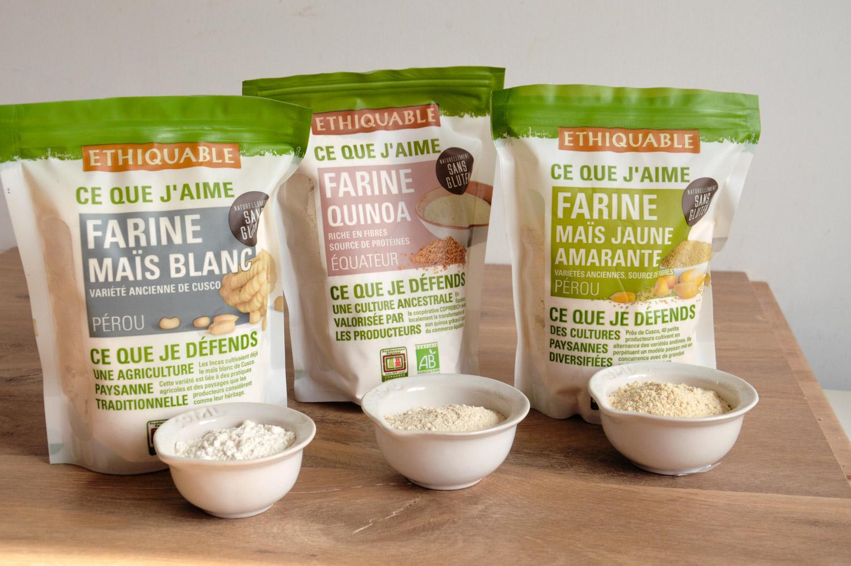 Farines bio et équitables gluten free