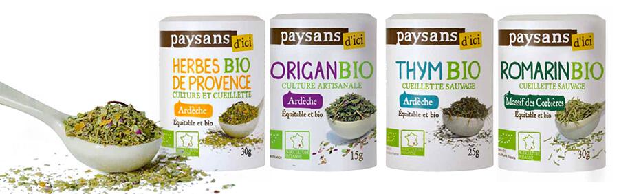 herbes aromatiques françaises bio equitable