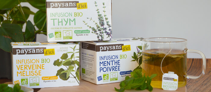 Infusions bio et équitables origine France