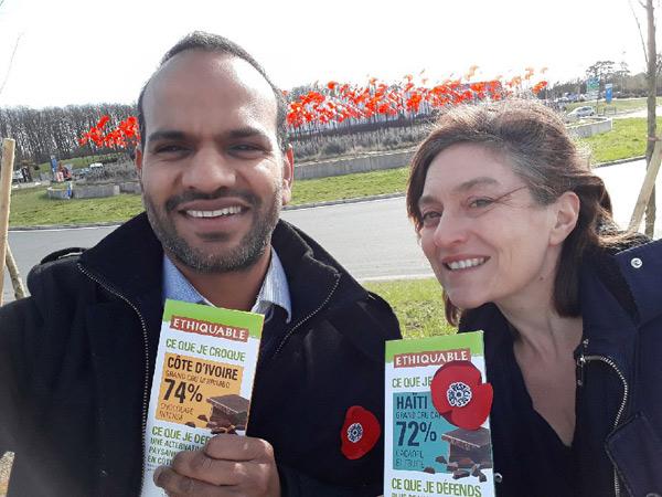 Les salariés Ethiquable soutiennent le mouvement des coquelicots