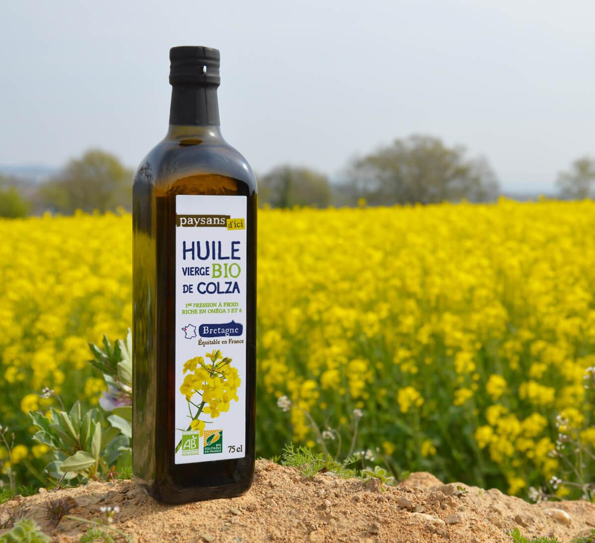 huile de colza bio equitable paysans d'ici