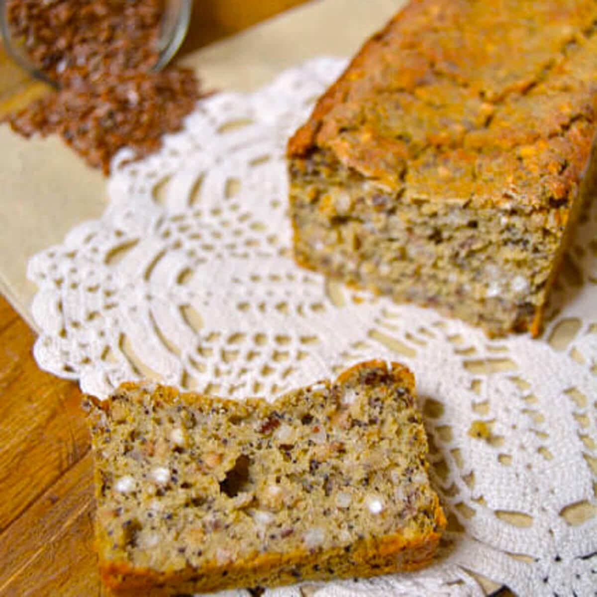 Pain sans gluten farine de sarrasin et farine de maïs bio