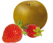 pomme fraise bio