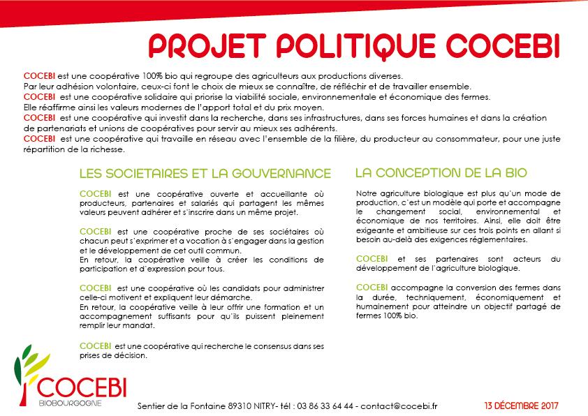 projet politique de cocebi