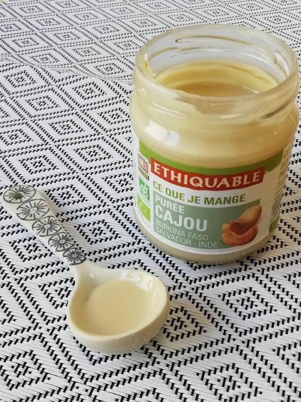 puree de cajou ethiquable commerce equitable bio