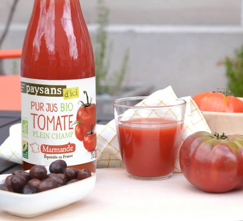 pur jus tomate paysans d ici équitable en france bio