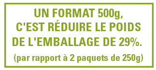 reduction emballage 500g
