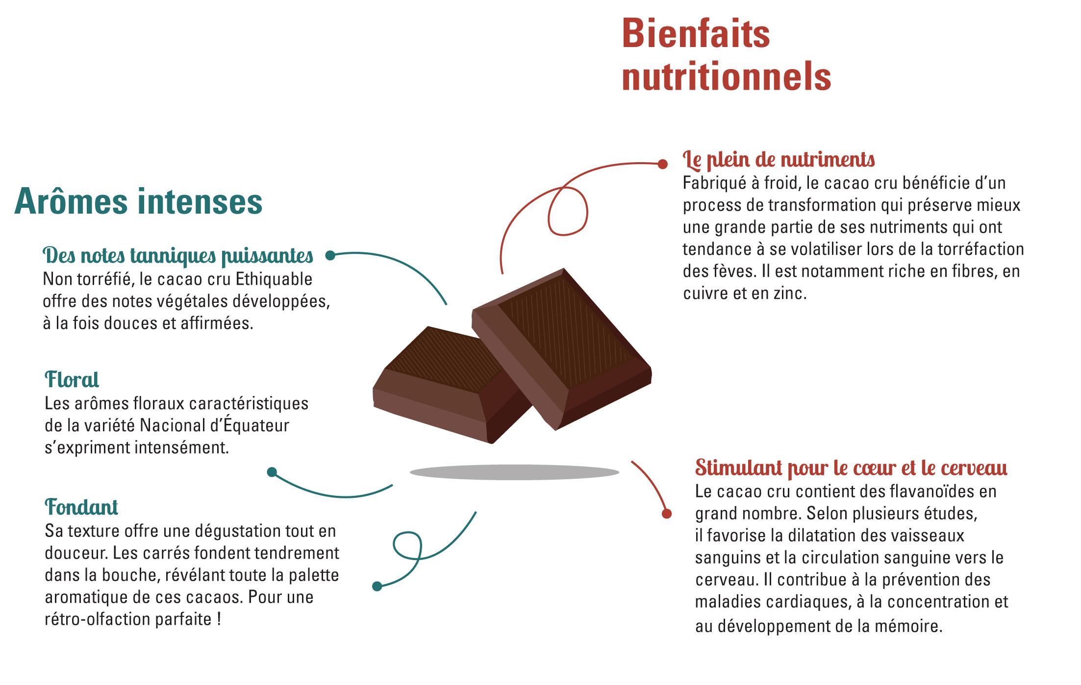 Les bienfaits du cacao cru