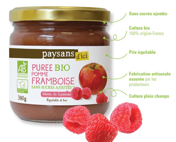 Purée de fruits bio sans sucres ajoutés