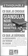 ethiquable gianduja noir noisette bio equitable