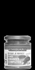 purée amande complete grillé bio equitable