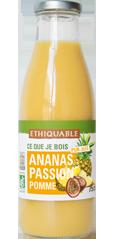ananas passion pomme pur jus bio equitable ethiquable