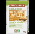 riz quinoa lentilles équitable et bio