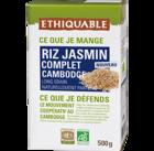 Riz Jasmin complet Cambodge équitable & bio ethiquable