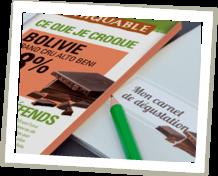 carnet de dégustation chocolat Ethiquable