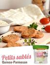Recette sans gluten sablés quinoa parmesan