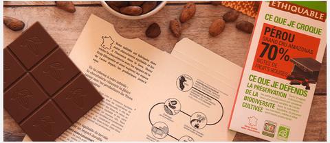 chocolat 70% Pérou made in gers
