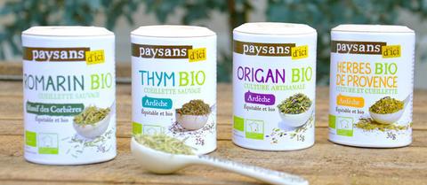Herbes aromatiques 100% bio, équitables et françaises