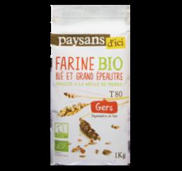 Farine blé & grand épeautre du Gers - Paysans d'ici commerce équitable bio
