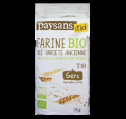 Farine de blé Variété ancienne du Gers commerce équitable bio - Paysans d'ici