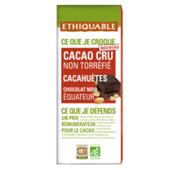 Cacao cru non torréfié Cacahuètes équitable & bio