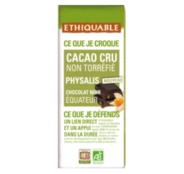 Cacao cru non torréfié Physalis équitable & bio