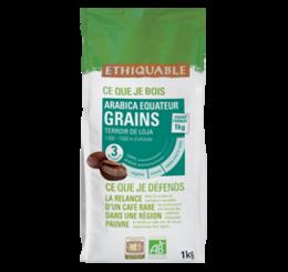 café arabica Equateur grain 1kg ethiquable bio commerce équitable