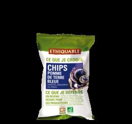 Chips de pomme de terre bleue équitable bio