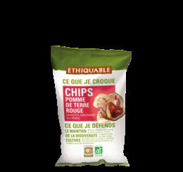 Chips de pomme de terre rouge équitable bio
