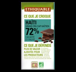 chocolat noir 72% haiti commerce équitable bio ETHIQUABLE