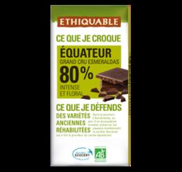 chocolat noir 80% equateur commerce équitable bio ETHIQUABLE