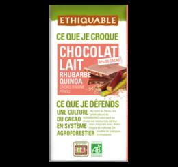 Chocolat Lait Rhubarbe Quinoa équitable bio ethiquable