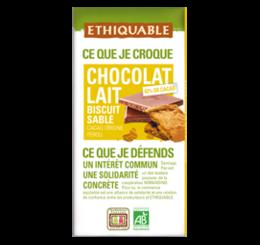 Chocolat Lait Biscuit Sablé équitable & bio ethiquable