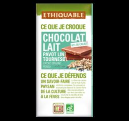 Chocolat Lait Tournesol Lin Pavot équitable bio ethiquable