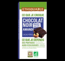 chocolat noir amande equitable bio ethiquable