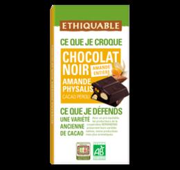 chocolat noir amande physalis equitable bio ethiquable