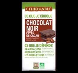 chocolat noir feve de cacao ethiquable bio commerce equitable
