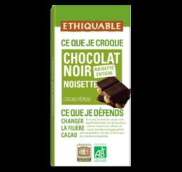 chocolat noir noisette equitable bio ethiquable